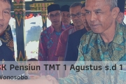 Penyerahan SK Pensiun TMT 1 Agustus s.d 1 Desember 2019