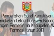 Penyerahan SK CPNS Formasi 2019